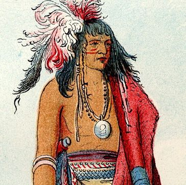 Native American by Catlin 1800s